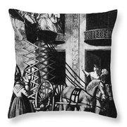 Carriage Cartoon, 1776 Throw Pillow