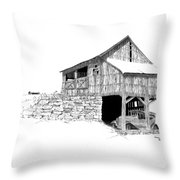 Carriage House Throw Pillow by Donald Black