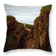 Carrick-a-rede Bridge II Throw Pillow