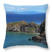 Carrick-a-rede Rope Bridge In The Throw Pillow