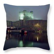 Carrickfergus Castle & Harbour, Co Throw Pillow