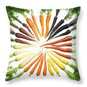 Carrot Pigmentation Variation Throw Pillow by Science Source