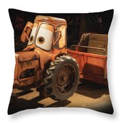 Cars Land Cow Tractor Throw Pillow