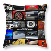 Cars Of Southern California Throw Pillow