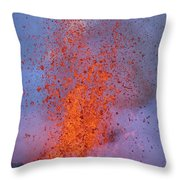Carsten Likens This Explosive Lava Throw Pillow