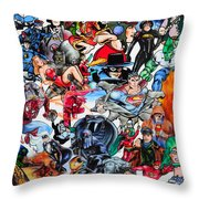 Cartoon Car Detail Throw Pillow