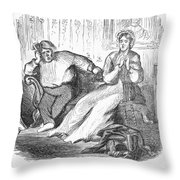 Cartoon: Draft, 1862 Throw Pillow