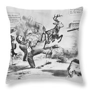 Cartoon: Election Of 1856 Throw Pillow by Granger