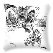 Cartoon: New Deal, 1937 Throw Pillow