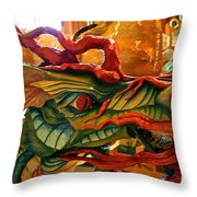 Carved Dragon Throw Pillow