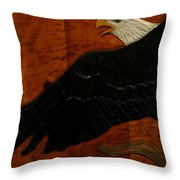 Carved Eagle Throw Pillow