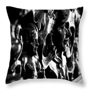 Carved Faces Throw Pillow