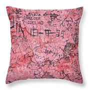 Carvings On Wall Throw Pillow by Carlos Caetano
