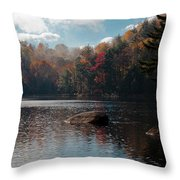 Cary Lake In The Adirondacks Throw Pillow