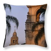 Casa Del Prado Theatre In Balboa Park Throw Pillow
