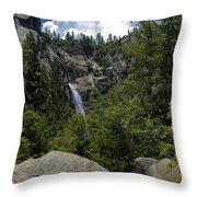 Cascade Falls Yosemite National Park Throw Pillow