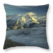 Cascade Mountain Banff Throw Pillow