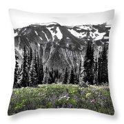 Cascade Range Meadow Throw Pillow
