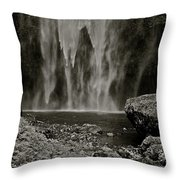 Cascade's End Throw Pillow