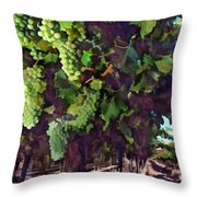 Cascading Grapes Throw Pillow