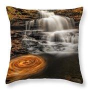 Cascading Swirls Throw Pillow