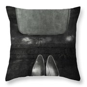 Case And Shoes Throw Pillow by Joana Kruse