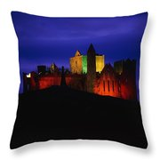 Cashel Rock, Co Tipperary, Ireland Throw Pillow