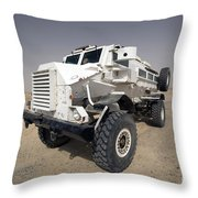 Casper Armored Vehicle Sits Throw Pillow