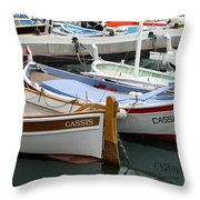 Cassis Harbor Throw Pillow