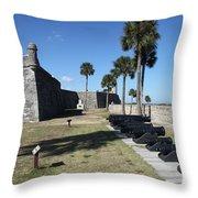 Castillo De San Marco I Throw Pillow