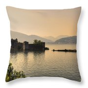 Castle Cannero On Lake Throw Pillow