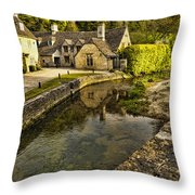 Castle Combe Bridgeside Throw Pillow