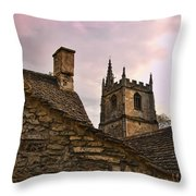 Castle Combe Medieval Church Throw Pillow