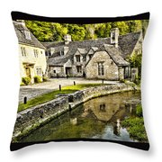 Castle Combe Riverside Throw Pillow