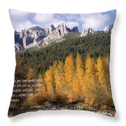 Castle Crags Autumn Throw Pillow