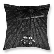 Castle Farms Silo Black And White Throw Pillow