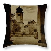 Castle Gate Throw Pillow