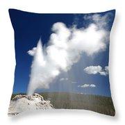 Castle Geyser Erupting Throw Pillow