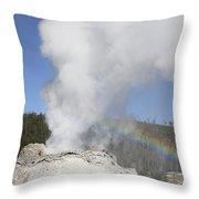 Castle Geyser Eruption, Upper Geyser Throw Pillow