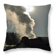 Castle Geyser Morning II Throw Pillow