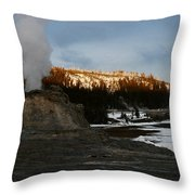 Castle Geyser Yellowstone National Park Throw Pillow