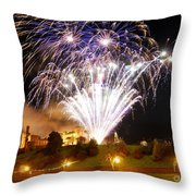 Castle Illuminations Throw Pillow by John Kelly