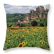 Castle In Dordogne Region France Throw Pillow