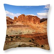 Castle In The Distance Throw Pillow
