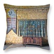 Castle Interior Throw Pillow