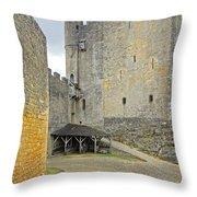 Castle Interior Ground France Throw Pillow