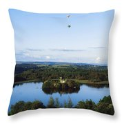 Castle Island, Lough Key Forest Park Throw Pillow