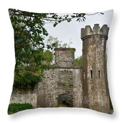 Castle Near Upper Lake Kilarney Irelnad Throw Pillow