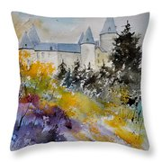 Castle Of Veves Belgium Throw Pillow