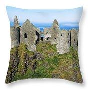 Castle On A Cliff, Dunluce Castle Throw Pillow